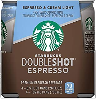 Starbucks Double Shot Espresso Light 6.5 Fl Oz (4 Count)