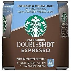 Starbucks Double Shot Espresso Light 6.5 Fl Oz (pack of 4)