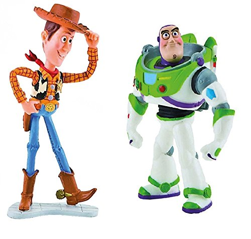 Disney's Toy Story Buzz Light Year and Woody Birthday Party Cake Toppers