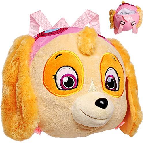 alles-meine.de GmbH 3D Effekt _ Plüsch - Rucksack & Kuscheltier - XL groß - Paw Patrol - Hund Skye - Kinderrucksack / Plüschtier - für Kinder Kindergartenrucksack Kindertasche - ..