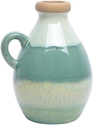 """Benzara 13183-04 Contemporary Handled, Multicolor Jars, Green 8"""""""