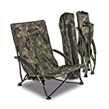 Solar Tackle Unisex's Undercover Foldable Easy Chair, Camouflage, Low
