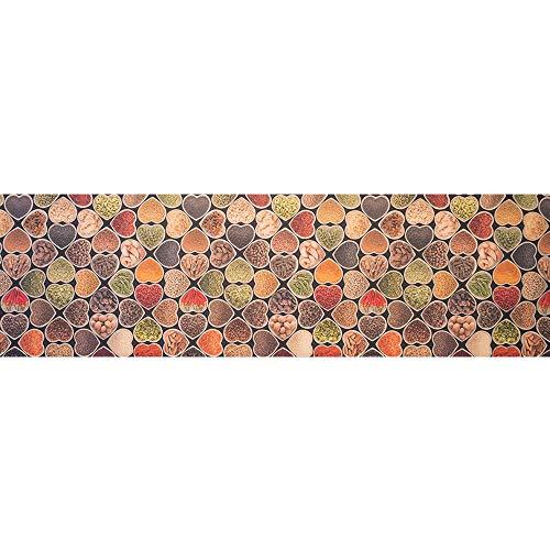 IlGruppone Tappeto passatoia Fantasia Made in Italy Antiscivolo Lavabile Aderente Cuori spezie - Cuori - 50x200 cm