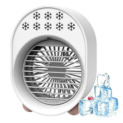 YMXLXL Mini Refrigerador de Aire, 280ml de Aire Acondicionado Portátil, con 3 Velocidades Ajustables, 7 Luces LED, para el Dormitorio de la Oficina en Casa 122X99X169mm