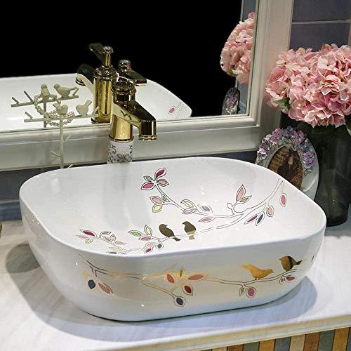 ZLXLX badkamer wastafel aanrecht wastafel badkamer wastafels ovale wastafel enkele kom badkamer keramische wastafel wastafel wastafel wastafel Counter Top wastafel