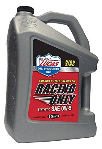 Lucas Oil synthétique 10370 Huile Moteur SAE 0 W-5 Racing