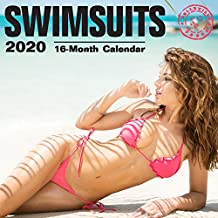 2020 Swimsuits Wall Calendar by Bright Day, 16 Month 12 x 12 Inch, Hot Sexy Pinup Girls Babe Lingerie