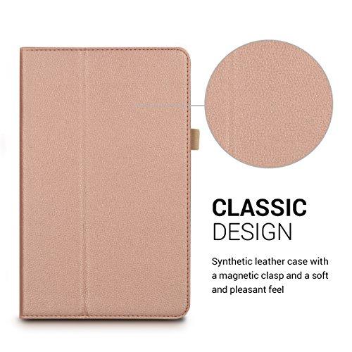 kwmobile Huawei MediaPad T1 10 Hülle - Tablet Cover Case Schutzhülle für Huawei MediaPad T1 10 - Rosegold mit Ständer - 2