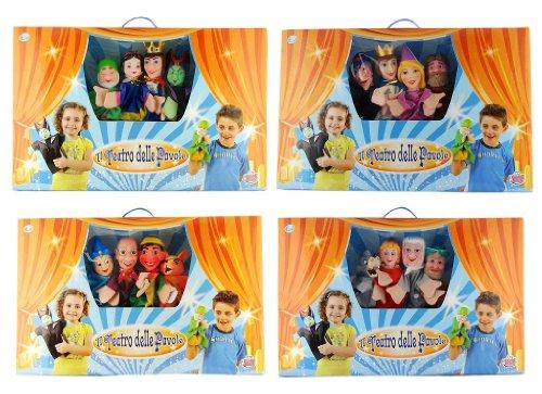Grandi Giochi GG82200 - Maxi Teatrino Con 4 Marionette, Modelli Assortiti