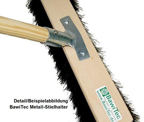 BawiTec Kokosbesen 100cm mit Stiel 160cm Kokos-Saalbesen Naturbesen Besen Straßenbesen - 3