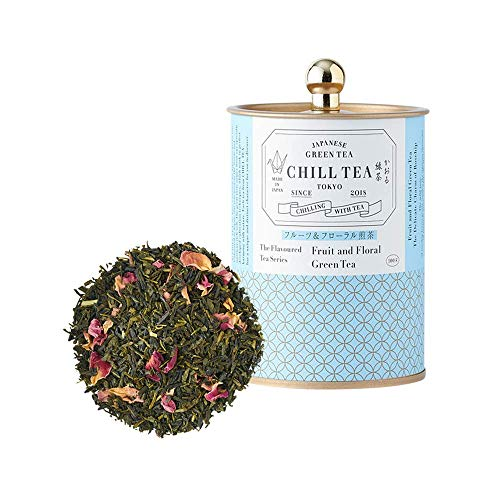 Fruit & Floral Green Tea by CHILL TEA Tokyo - 100% Japanese Loose Leaf Green Tea with Rosehip -...