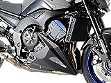 Quilla con malla para Yamaha FZ-8N 10-15/FZ-8 FAZER 10-15, color plateado y negro mate
