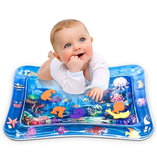 Great Features Of Infinno Tummy Time Mat Baby Water Play Mat, Activity Center, Stimulate Your Baby's...