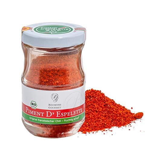 Boomers Gourmet - BIO Piment d' Espelette AOP original, Chilipulver aus NEUER ERNTE 2020 - 40 g