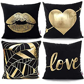 Best black and gold pillows Reviews