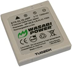 Wasabi Power Battery for Sanyo NP-40, UF553436 and Sanyo Xacti VPC-E760, VPC-E860, VPC-E870, VPC-E875, VPC-E890, VPC-E1075, VPC-E1090