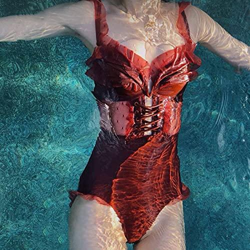 BeingHD Los Mini Pechos Femeninos De Encaje De Tres Puntos Se Reunieron En Un Bikini Conservador para Mostrar Su Barriga Magra M Color Caramelo