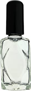 Aura Variety 72-Piece Diamond Cut 1/2 OZ 15ML Empty REFILLABLE Clear Glass Bottles (Perfume, Essential Oils, Aromatherapy, Travel Kit)