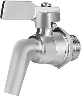 Draft Beer Faucet, Stainless Steel Draft Beer Faucet for Homebrew Barrel Wine Beverage Dispenser,1/2in Short Shank (Adjustable Faucet)