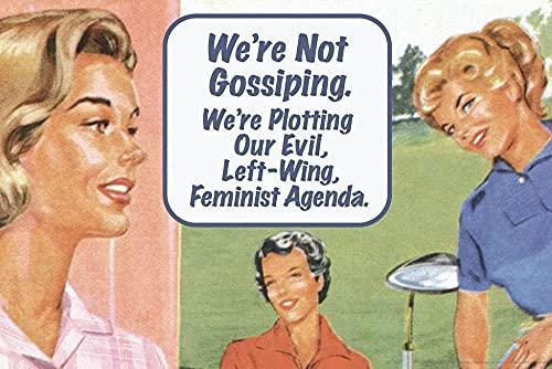 Affischen skvallrade inte och planerade vår onda vänstervänliga feministiska agendadekor 40cm x 60cmIngen ram