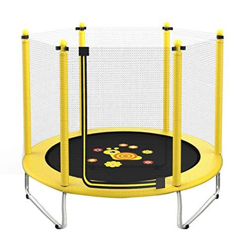 Indoor Stuiterende Bed Kinderen 's Tuin Trampoline Trampoline Met Beschermende Net, Lager Ongeveer 250 Kg, Zonder Mand En Armsteun (Color : Yellow, Size : 150 * 120cm)