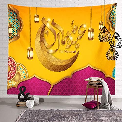 PPOU Ramadan Wandtapijt Islamitische Maan Eid Mubarak Religie Festival Muur Opknoping Wandtapijten Voor Kerkkamer Decoratie Wandtapijt A10 100x150cm