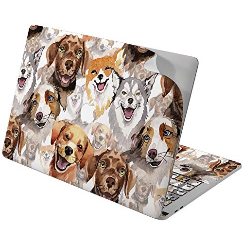 Cavka Vinyl Decal Skin for Apple MacBook Pro 13' 2019 15' 2018 Air 13' 2020 Retina 2015 Mac 11' Mac 12' Dog Design Protective Funny Puppy Laptop Sticker Watercolor Especial Cover Print Cute Animal