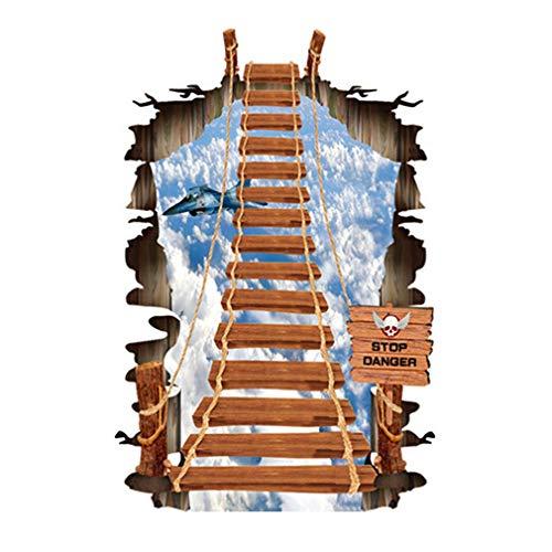 Modello di Ponte Removibile Adesivo da Parete Fai da Te Art Mural PVC Adesivo Murale per Casa Soggiorno Camera da Letto Corridoio Decorazione di SamGreatWorld