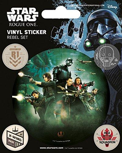 1art1 Star Wars Poster-Sticker Autocollant - Rogue One, Rebel (12 x 10 cm)
