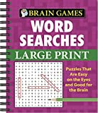 Brain Games - Word Searches - Large Print (Purple)