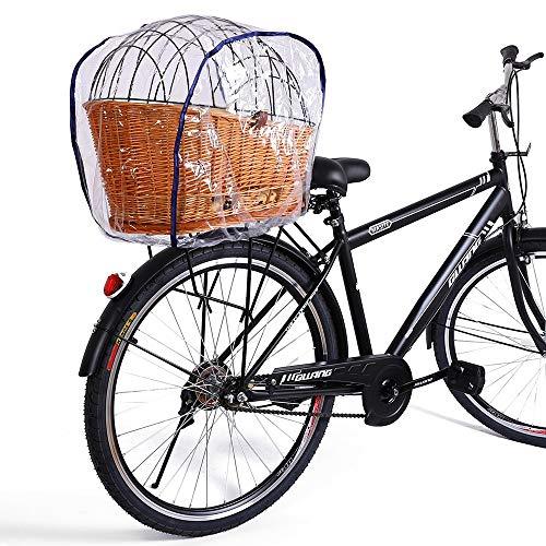 Regenhaube Regenschutzhaube für Hundefahrradkörbe in XL und XXL, Regenhaube für Gepäckträger Tierkorb, Regenschutzhaube für Haustier Hund Katze, für fahrradkorb in Größe 56 × 36 cm und 60 × 37 cm Blau