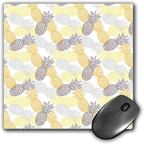 Mouse Pad Gaming Funcional Frutas Alfombrilla de ratón gruesa impermeable para escritorio La piña exótica entonada suave figura la ilustración artística del alimento de la dieta tropical,Marigold Dimg