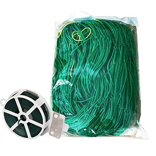 SOONPAM Ranknetz Rankgitter Netz Pflanzengitter Gartengitter Kletternetz mit Pflanzen Twist Ties Zaununterstützung Nylonnetz für Klettern Pflanzenrebe