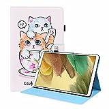 Funda para Samsung Galaxy Tab A 7 pulgadas SM-T280/T285 Tablet Case Case Funda a prueba de golpes Cuero PU Multi-Angular Vista función Folip Flip Funda protectora Cat Brothers