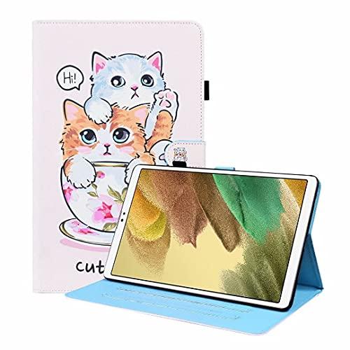 Funda para Samsung Galaxy Tab S5 (2019) SM-T720/T725 Tablet Case Funda de piel sintética a prueba de golpes con función de soporte de visualización multiángulo Folip Flip Cover protectora Cat Brothers