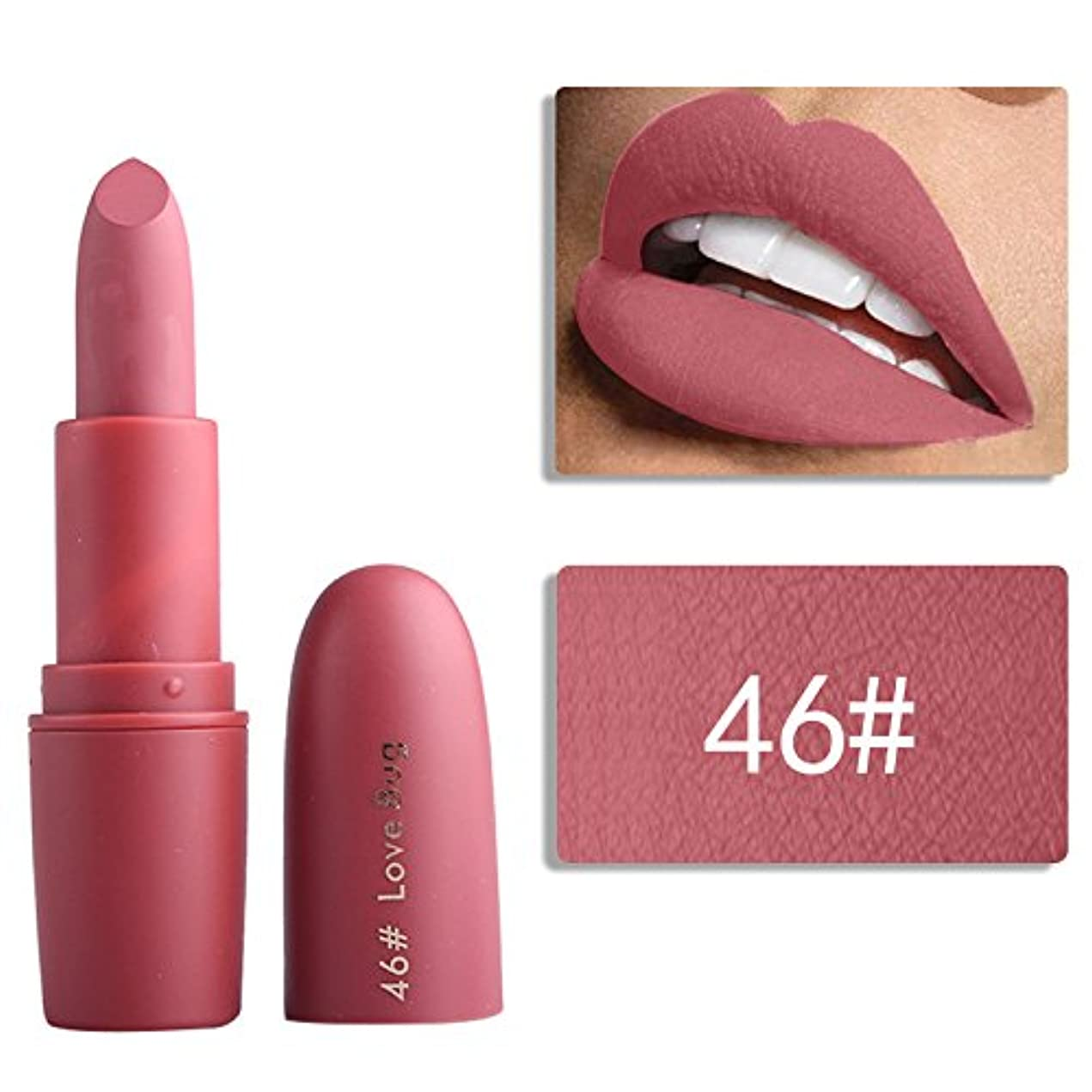 誓い作り上げる要求するMiss Rose Nude Lipstick 22 colors Waterproof Vampire Brown Beauty Baby Lips Batom Matte lipstick Makeup Tats Eugenie Margherita