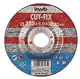 KWB 49793165 Disco desbaste Cut-Fix, 115 x 6 x 22 cm