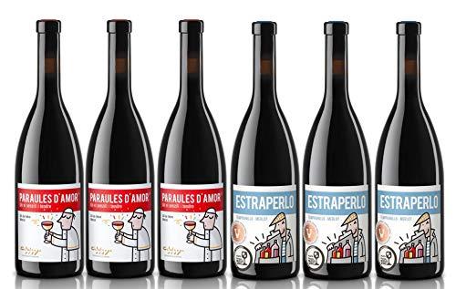 Caja de Vinos nº 7-3 Tintos D.O. Catalunya Tempranillo/Merlot, Crianza. 3 Tintos D.O. Catalunya Tempranillo/Merlot, joven (6 x 0,75 L)