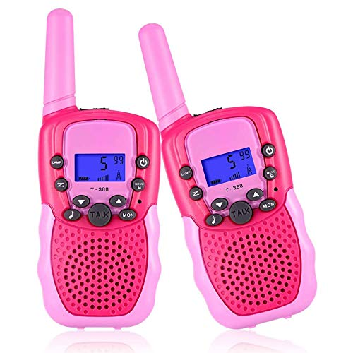 AILSAYA Two-Way Radio for Children with Walkie-Talkie, Two-Way Radio for Children, Mobile Phone with A Range of 3 Kilometers, 8-Channel LCD Display,C