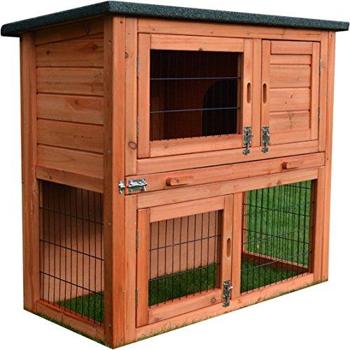 FeelGoodUK Coniglio Hutch Guinea Pig Casa Gabbia Penna con costruito in Run (RHM) conigliera