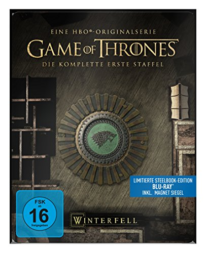 "Game of Thrones - Die komplette 1. Staffel (Steelbook) – mit Magnet ""Siegel Haus Stark"" [Blu-ray]"