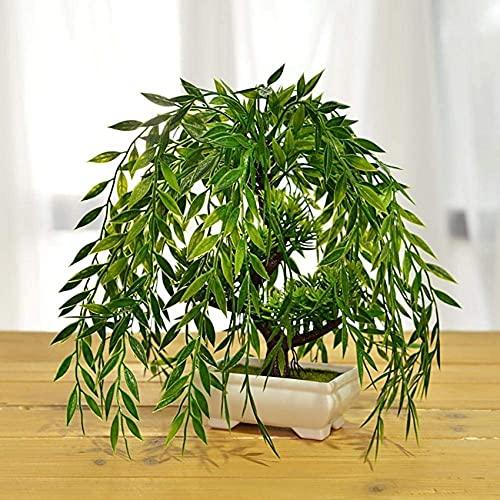 LBYJ Plantas Artificiales en macetas, Bonsai Artificial Decoración de Plantas Falsas Cedro Bonsai Artificial, Árboles Bonsai Artificiales, Planta Artificial, Réplica de bonsái/Decorac
