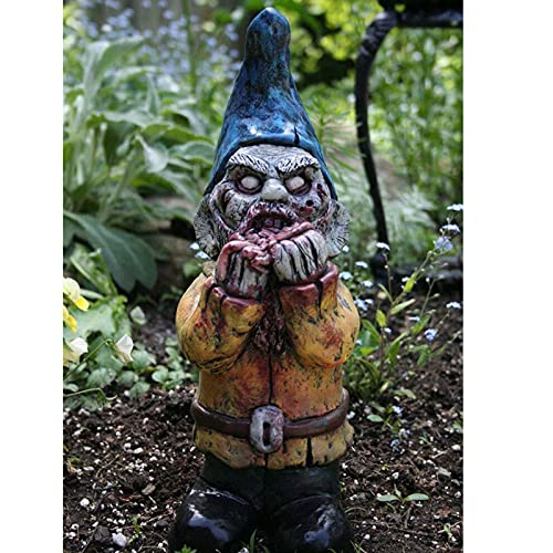 HowLoo Zombie Gnomes for The Garden Scary Gnome Dwarf Resin Ornaments Garden Crafts Frightening...