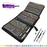 72 lápices acuarelables de dibujo artístico con Caja de cremallera,Set de Lápices Colores Profesional para colorear, dibujar y sombrear Ideal para Artistas, Adultos y Niños