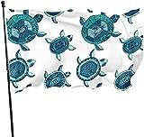 Deko-Fahne für den Garten, Schildkröte, weich, für den Außenbereich, Kunstfahne für Zuhause, Garten, Hof, Dekoration, 91 x 152 cm