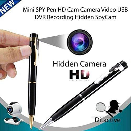 Spy cámara de la pluma cámara oculta cámara mini cámara-bolígrafo espía HD 1080P Audio y Video Recorder for la clase de negocios y de seguridad de la vigilancia Conferencia LMMS