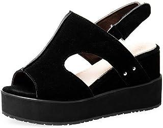BalaMasa Womens ASL06511 Imitated Suede Fashion Sandals