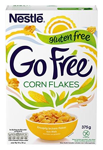 Nestlé GO FREE Cornflakes, glutenfreie Mais-Flakes, Cerealien zum Frühstück, mit Milch & Joghurt genießen ( 375 g)