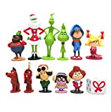 12pcs Grinch Movie Quality Figure Toy Set, Amazing Character Detail, Come in Dynamic Poses, Great for Both Kids and Collectors, ncluding Brinklebaum, Groopert and More.