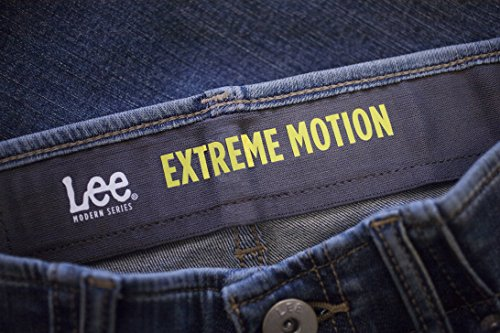 LEE Men's Performance Series Extreme Motion Straight Fit Tapered Leg Jean, Blue Prodigy, 33W x 30L